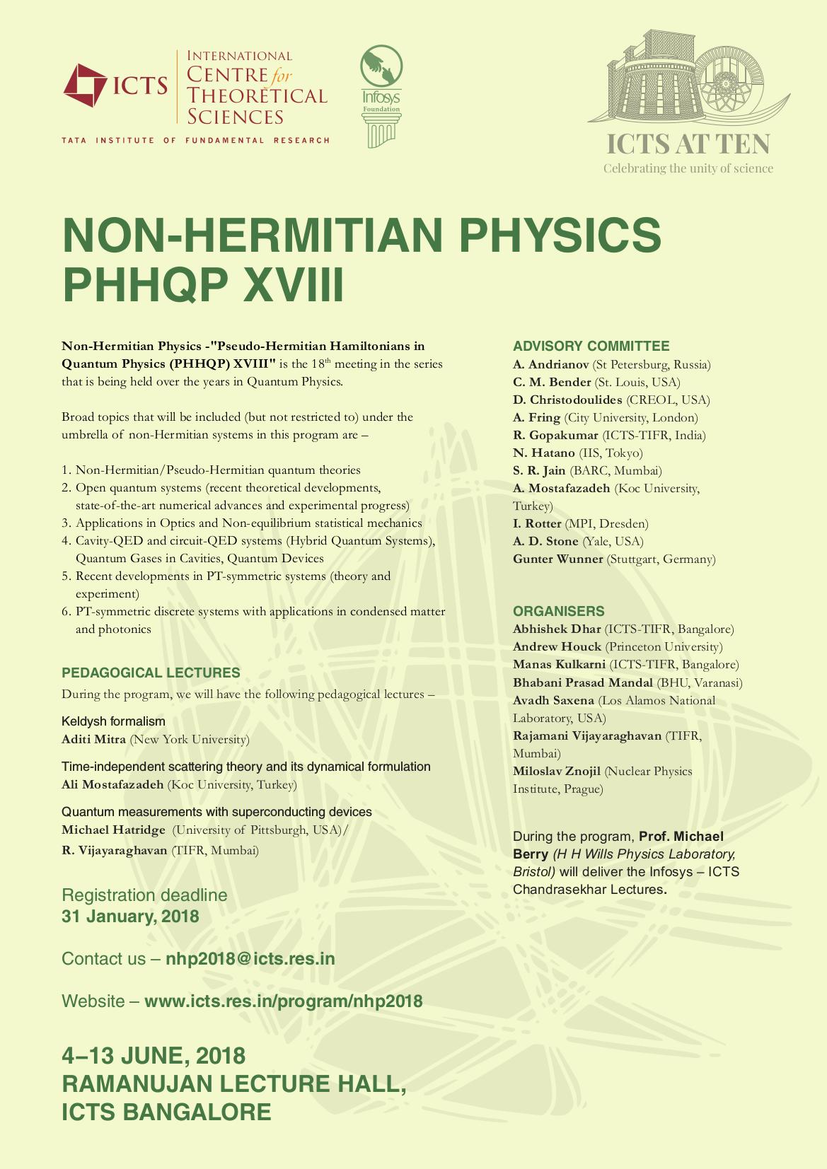 PT symmetry - the workshop's homepage